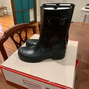 HUNTER BOOTS Original Waterproof Ankle Rain Boot